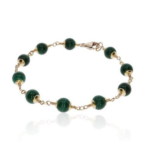 Malachite Bracelet By Heidi Kjeldsen Jewellery BL1383 round