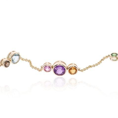 Multi-gemstone bracelet by Heidi Kjeldsen Jewellery BL1388 close up