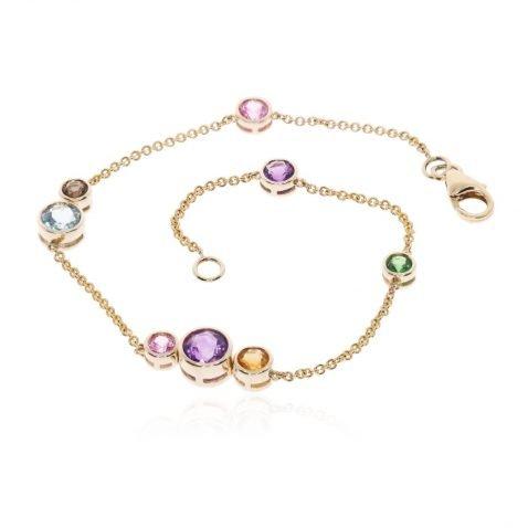 Multi-gemstone bracelet by Heidi Kjeldsen Jewellery BL1388 round