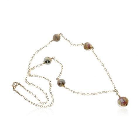 Murano Glass Necklace By Heidi Kjeldsen Jewellery NL1296 Swirl