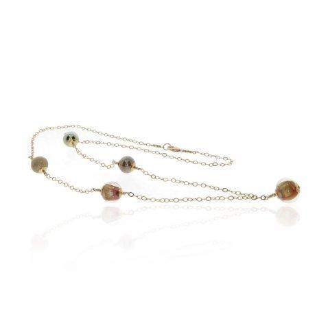 Murano Glass Necklace By Heidi Kjeldsen Jewellery NL1296 Flat