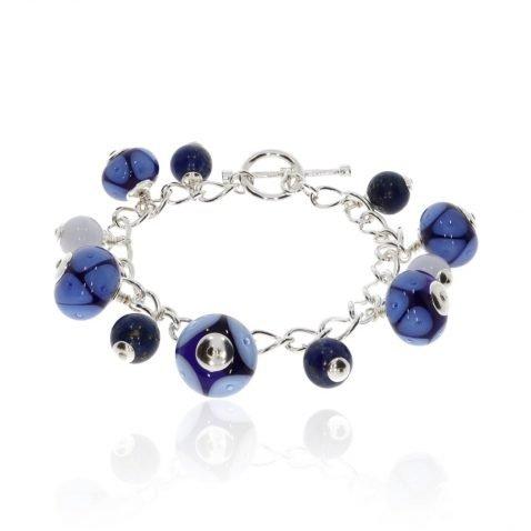 Murano Glass and Lapis Lazuli Bracelet by Heidi Kjeldsen BL1387 round
