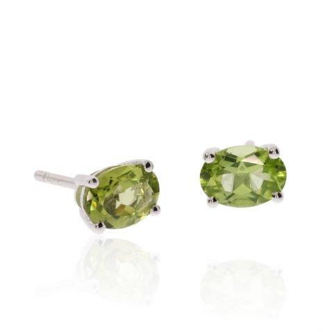 Peridot Oval Earrings By Heidi Kjeldsen Jewellery ER2563 Side