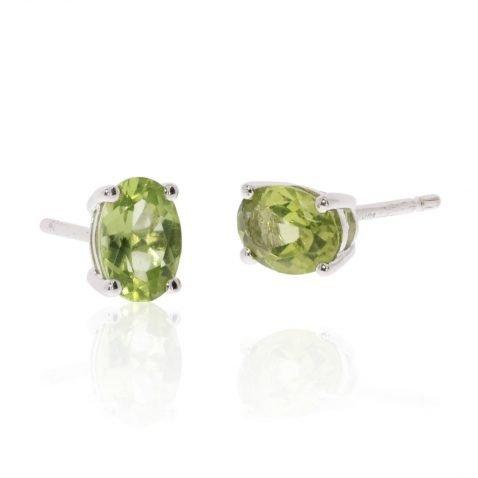 Peridot Oval Earrings By Heidi Kjeldsen Jewellery ER2563 Stack