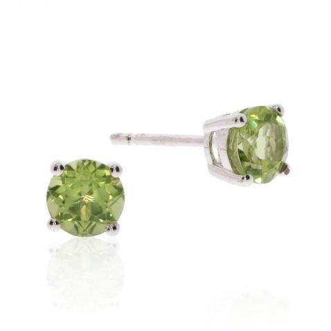 Peridot Round Earrings By Heidi Kjeldsen ER2564 Stack