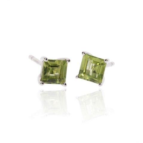 Peridot Square Earrings By Heidi Kjeldsen ER2566 Side