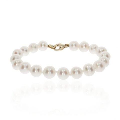 Akoya Cultured Pearl Bracelet By Heidi Kjeldsen Jewellery BL0093 Flat