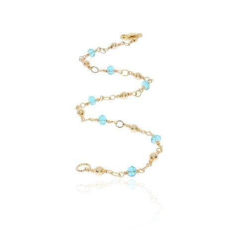 Blue Topaz and Gold Filled Bracelet By Heidi Kjeldsen Jewellery BL1344 Long