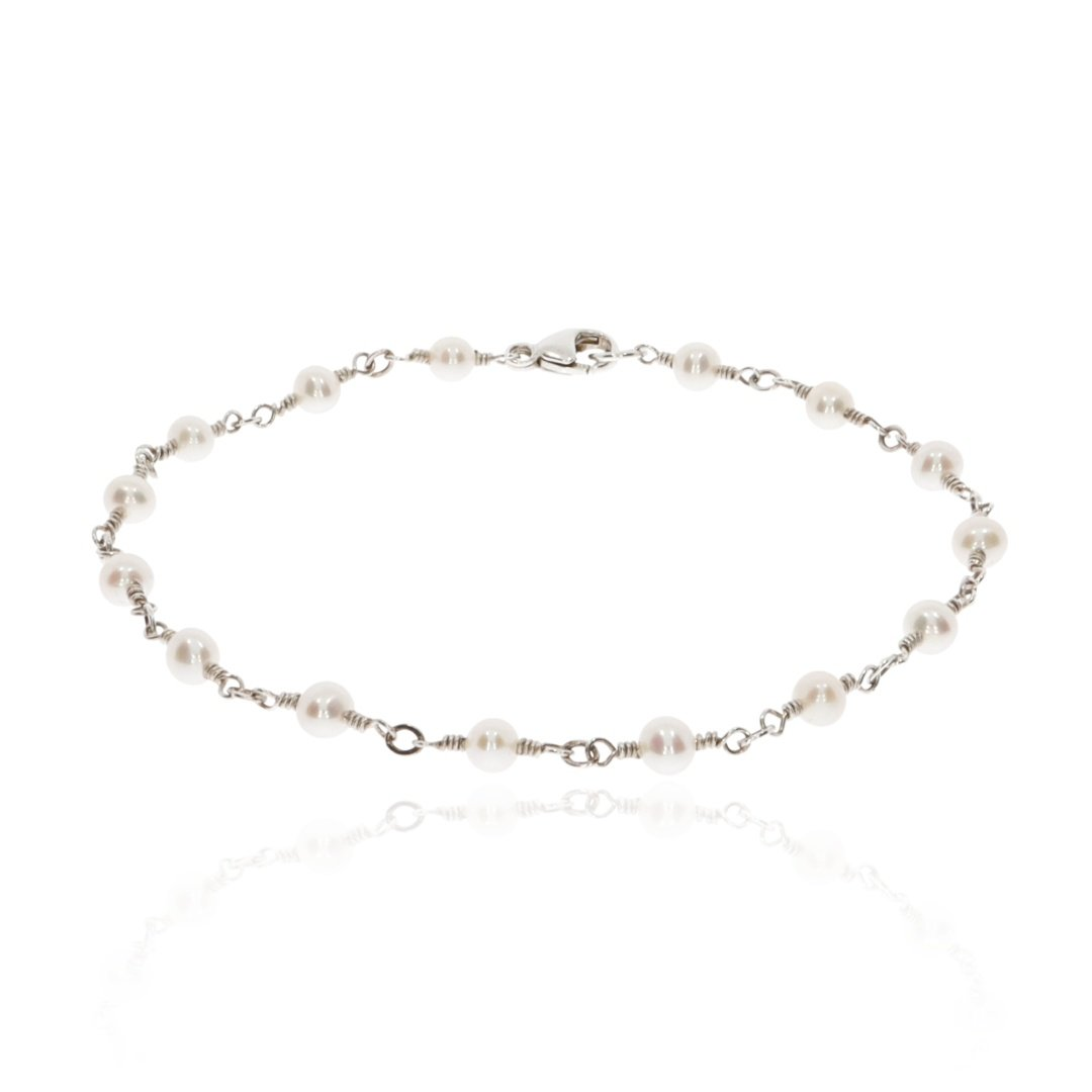 Cultured Pearl and Silver Bracelet By Heidi Kjeldsen Jewellery BL1343 Round