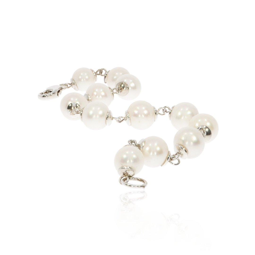 Cultured Pearl and Silver Bracelet By Heidi Kjeldsen Jewellery BL1350 long