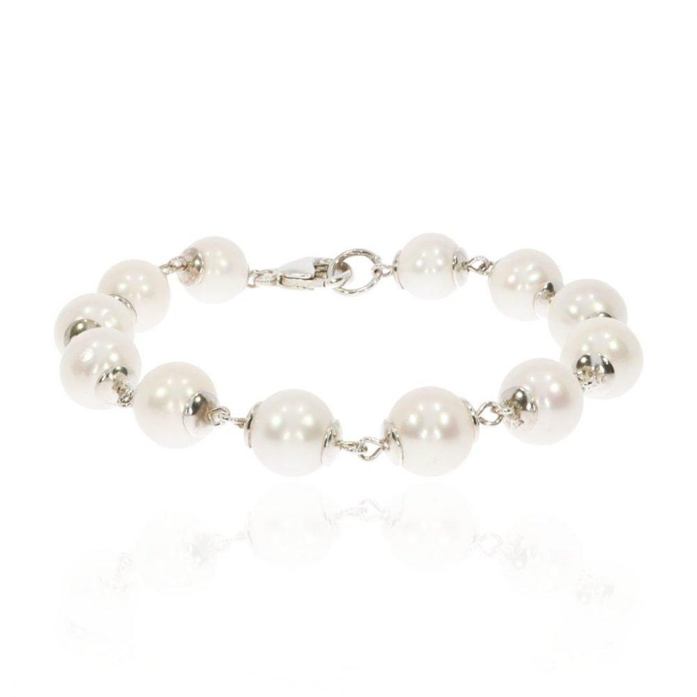 Cultured Pearl and Silver Bracelet By Heidi Kjeldsen Jewellery BL1350 Round