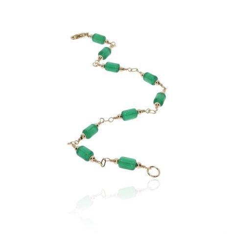 Green Glass Bracelet By Heidi Kjeldsen Jewellery BL1389 long