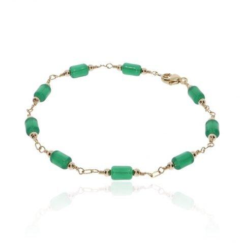 Green Glass Bracelet By Heidi Kjeldsen Jewellery BL1389 Round