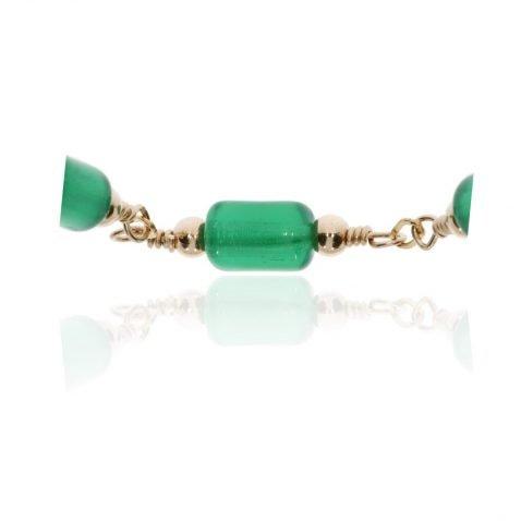 Green Glass necklace by heidi Kjeldsen Jewellery NL1303 Close