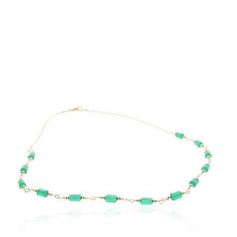 Green Glass necklace by heidi Kjeldsen Jewellery NL1303 Flat