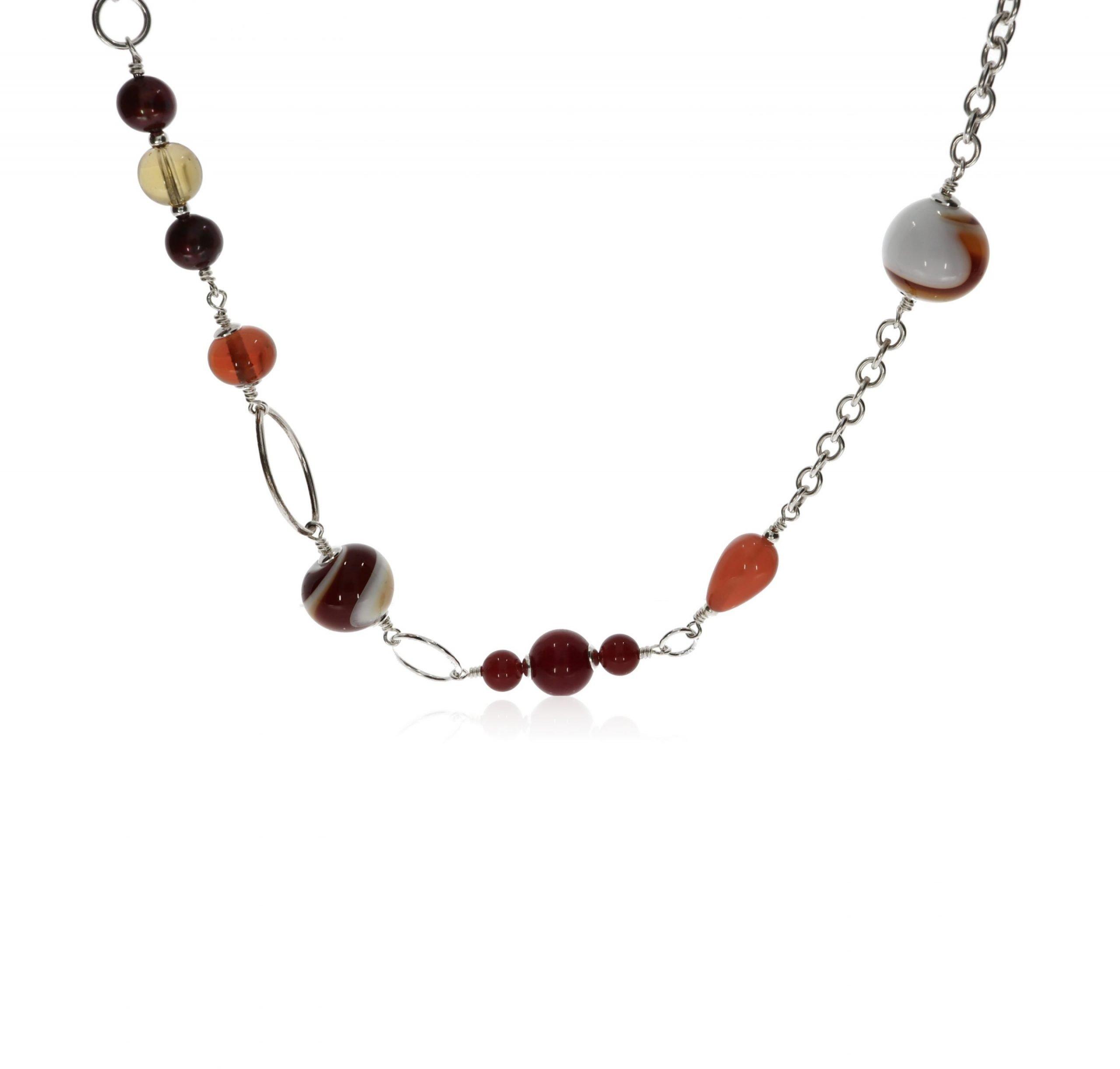 Murano Glass and Gemstone Necklace by Heidi Kjeldsen Jewellery NL1304 Front