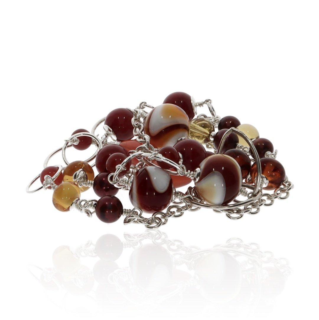 Murano Glass and Gemstone Necklace by Heidi Kjeldsen Jewellery NL1304 Stack