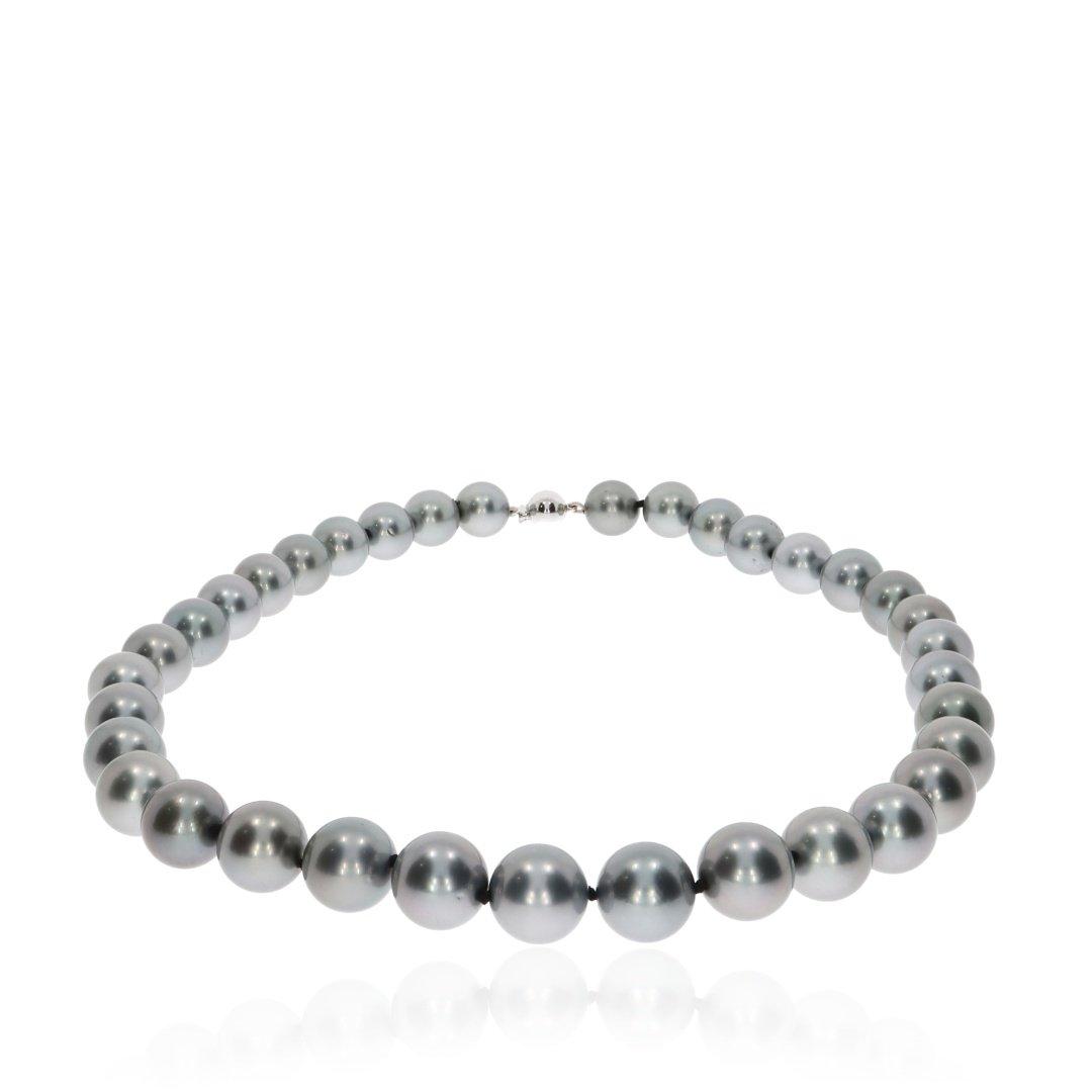 Tahitian Pearl Necklace By Heidi Kjeldsen Jewellery NL1275 Flat