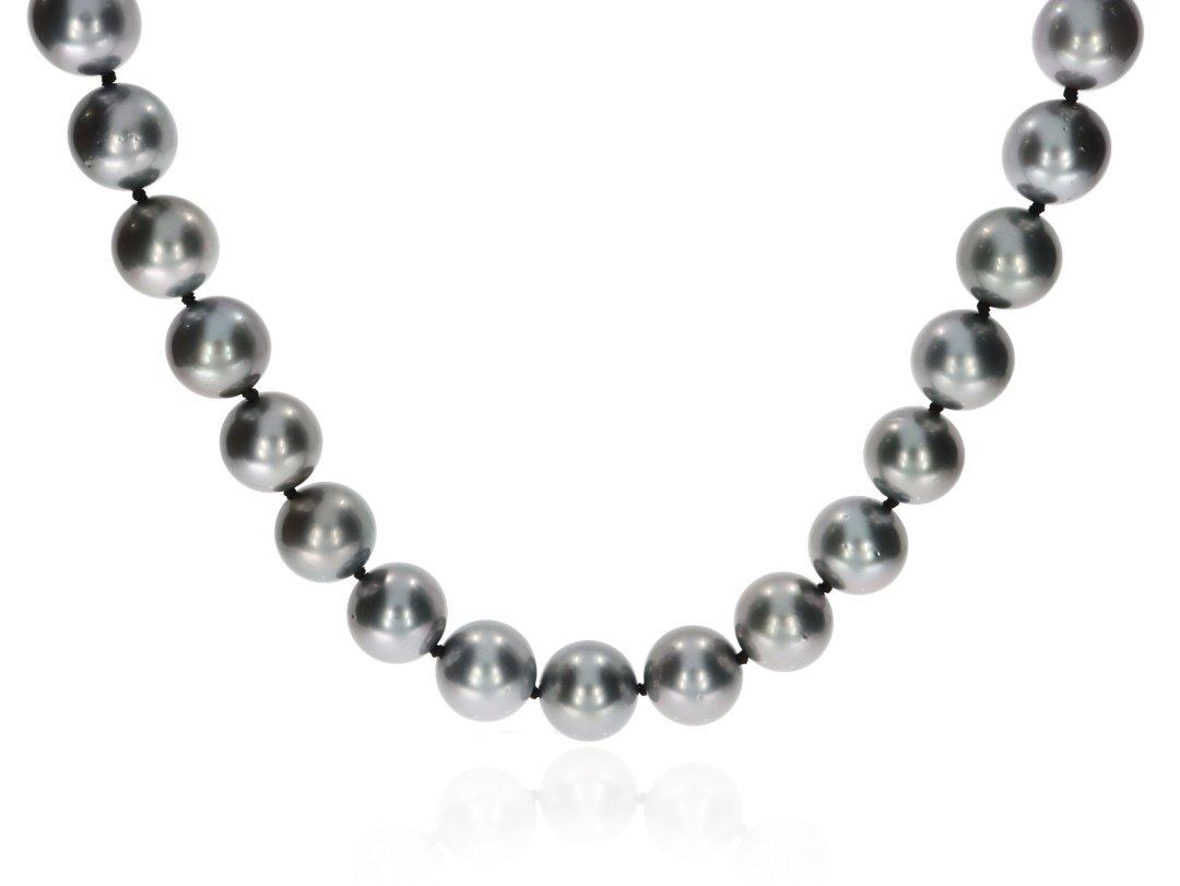 Tahitian Pearl Necklace By Heidi Kjeldsen Jewellery NL1275 Front