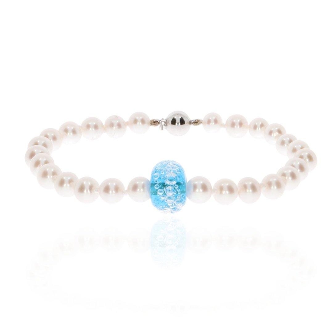 Cultured Pearl and Murano Glass Bracelet By Heidi Kjeldsen Jewellery BL4071 Front