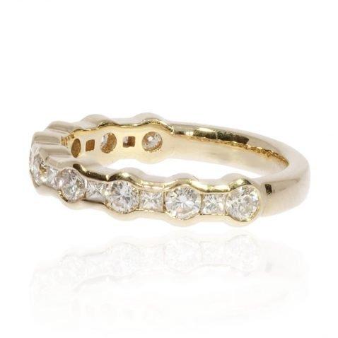Diamond and Yellow Gold Eternity Ring By Heidi Kjeldsen Jewellery R1643 Side