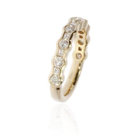 Diamond and Yellow Gold Eternity Ring By Heidi Kjeldsen Jewellery R1643 Vertical