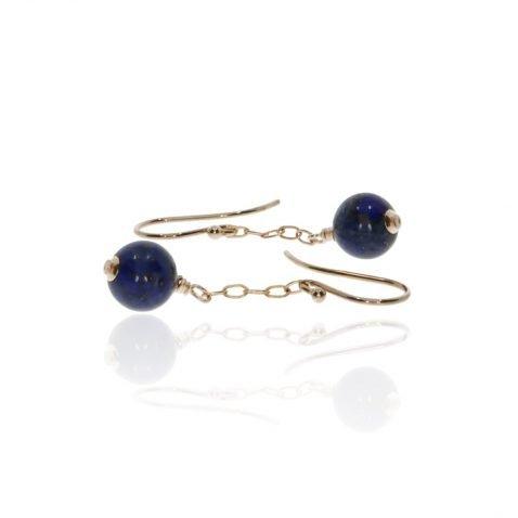 Lapis Lazuli Drop Earrings By Heidi Kjeldsen Jewellery ER2570 Side