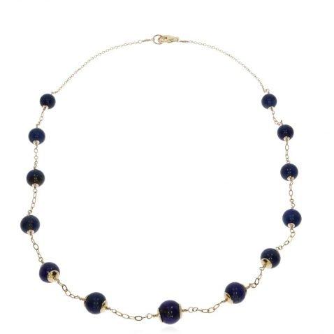 Lapis Lazuli Necklace By Heidi Kjeldsen Jewellery NL1315 Flat