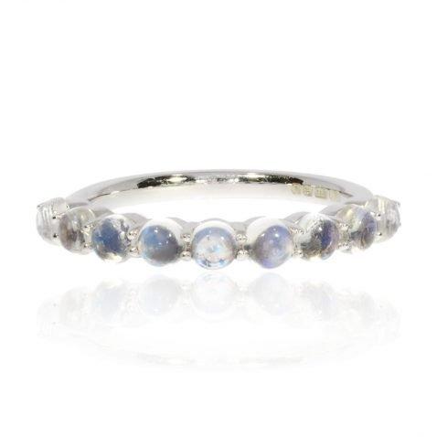 Moonstone and White Gold Ring By Heidi Kjeldsen Jewellery R1565 Front