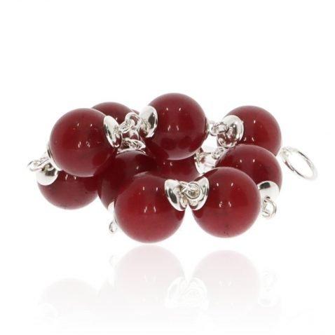 Red Agate and Silver Bracelet By Heidi Kjeldsen Jewellery BL1357 Stack