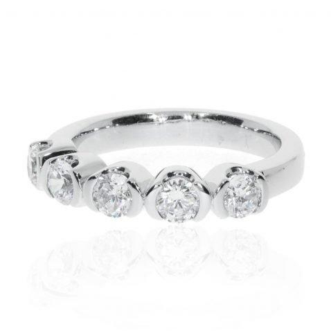 Diamond demi-rub-over eternity ring by Heidi Kjeldsen Jewellery R1343 Side