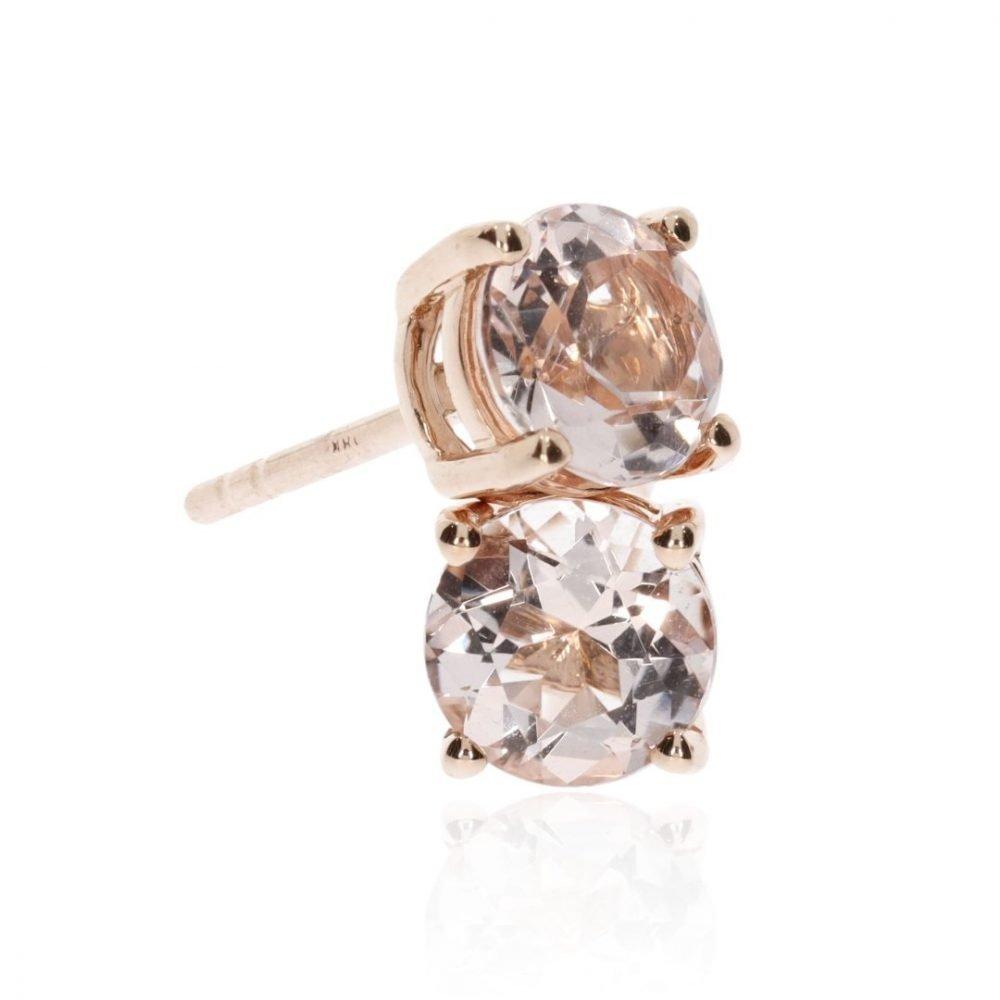Morganite and Rose Gold Earstuds by Heidi Kjeldsen Jewellery stack