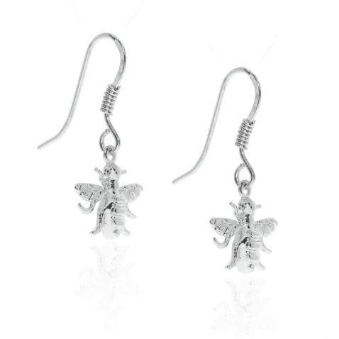 Sterling Silver Drop Bee Earrings By Heidi Kjeldsen Jewellery ER2506 side