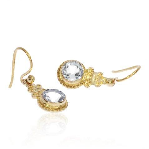 Aquamarine Filigree Earrings By Heidi Kjeldsen Jewellery ER4766 Flat