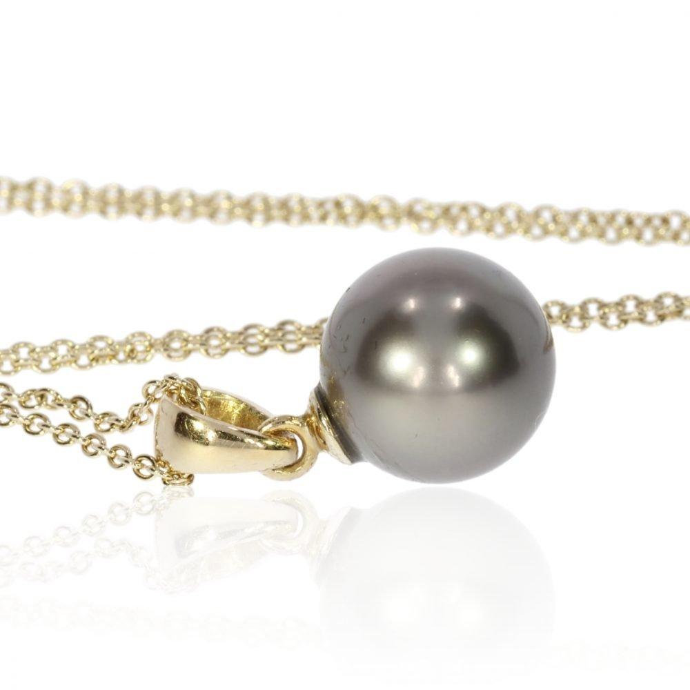 Tahitian Pearl Pendant By Heidi Kjeldsen Jewellers P1085 Side