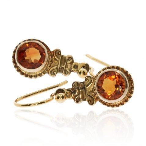 Citrine Filigree Earrings Heidi Kjeldsen Jewellers ER2573 Side