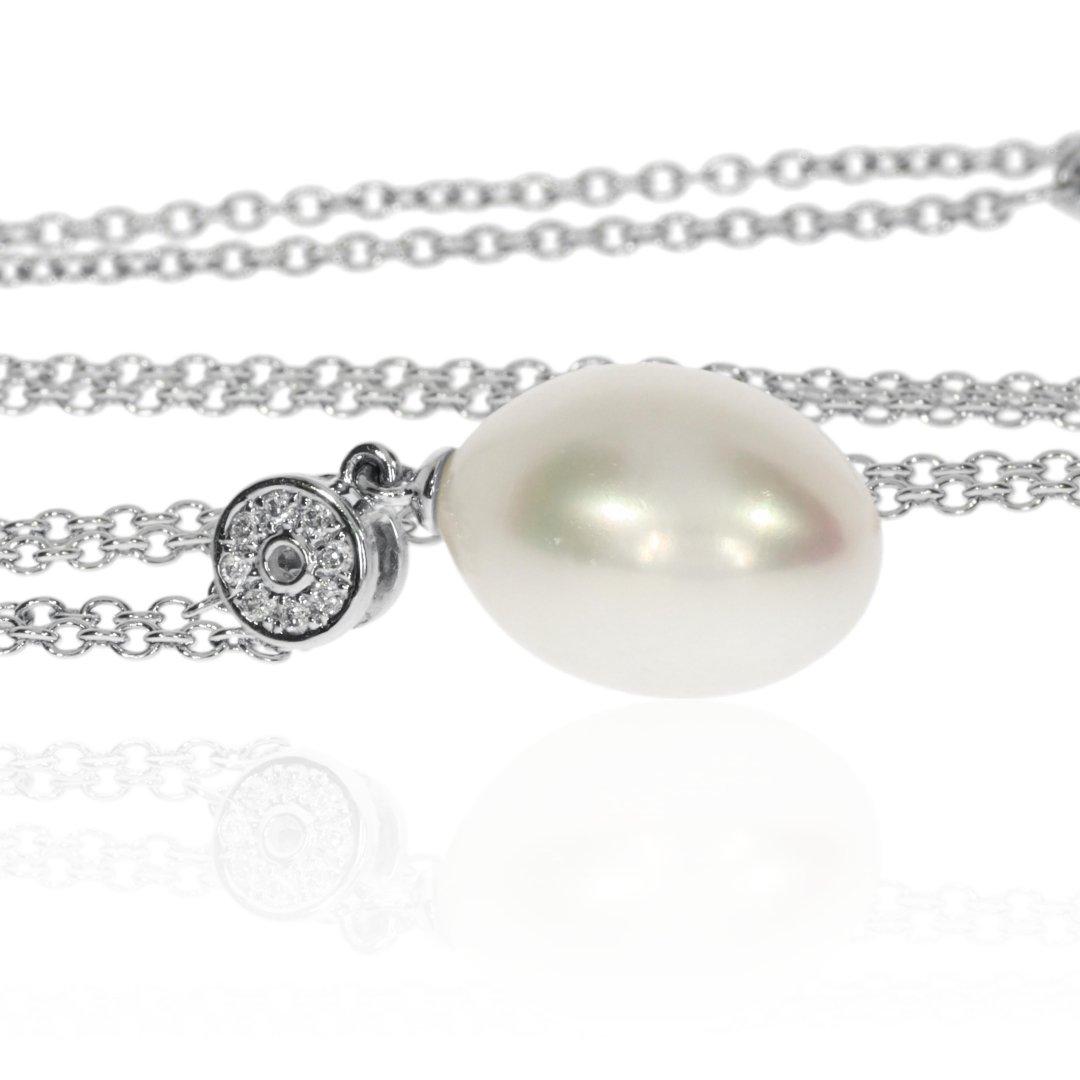 Cultured Pearl Pendant By Heidi Kjeldsen Jewellers P1466 Side
