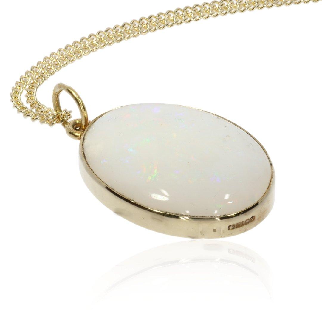Opal Pendant By Heidi Kjeldsen Jewellers P1471 Side