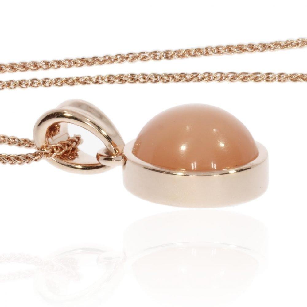 Peach Moonstone Pendant By Heidi Kjeldsen Jewellers P1480 Flat