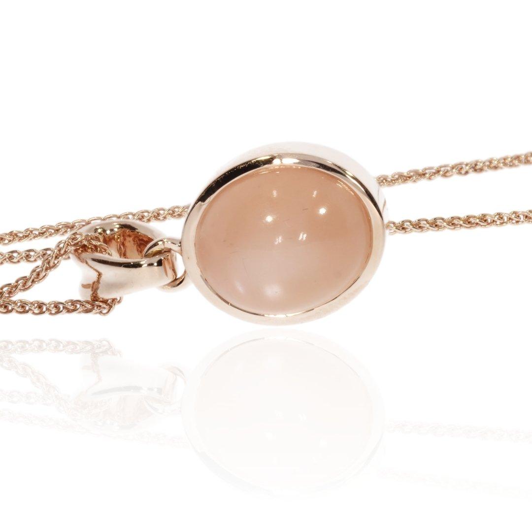 Peach Moonstone Pendant By Heidi Kjeldsen Jewellers P1480 Side