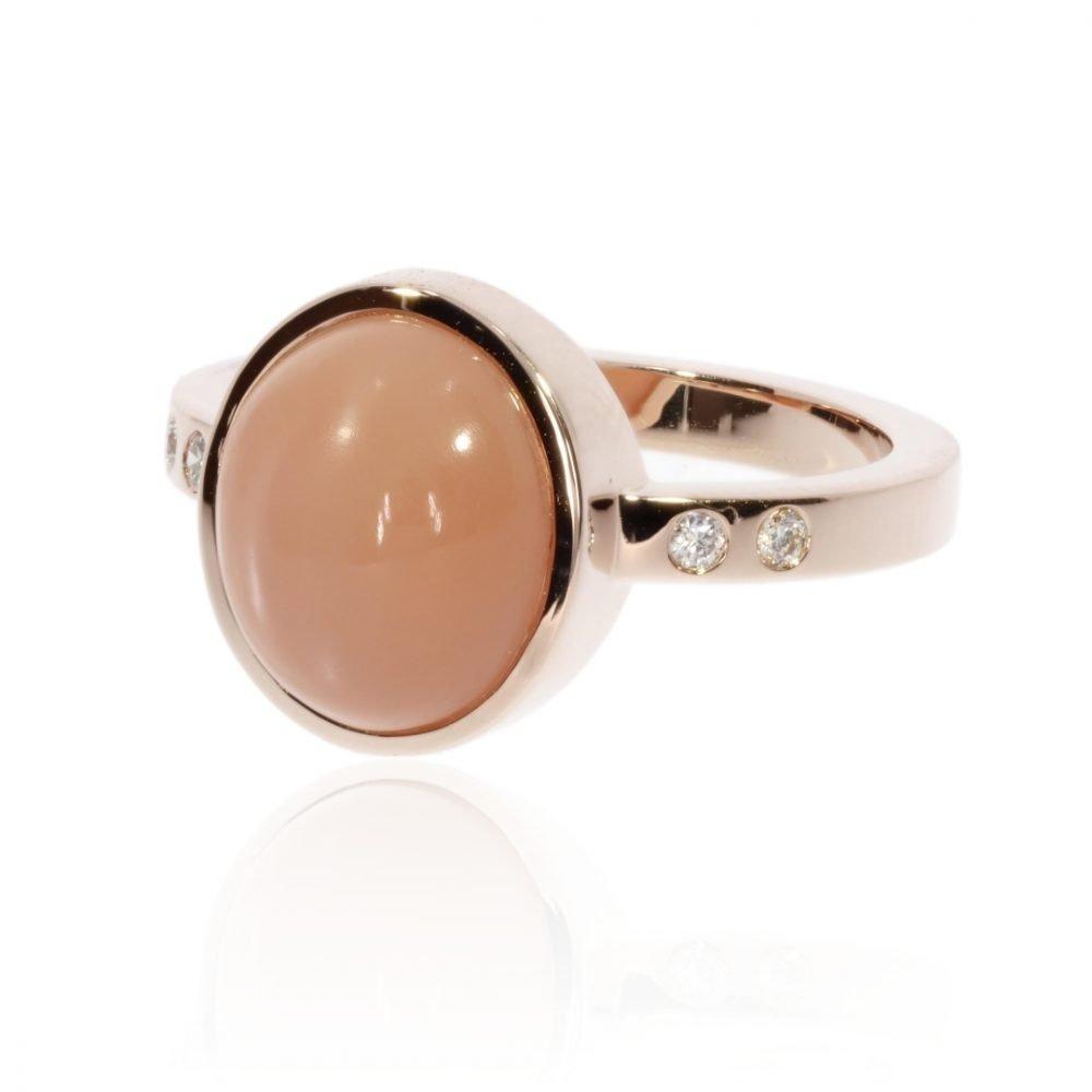 Peach Moonstone Ring By Heidi Kjeldsen Jewellers R1683 Side