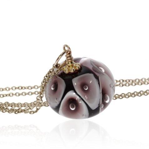 Purple Murano Glass Pendant By Heidi Kjeldsen Jewellers P1323 Side