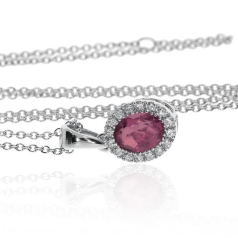 Rhodolite Garnet Pendant By Heidi Kjeldsen Jewellers P1468 Front