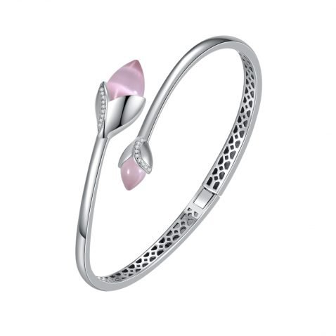 Fei Liu Magnolia Collection Bangle with Double Pink Heidi Kjeldsen Jewellers BL1403 Top