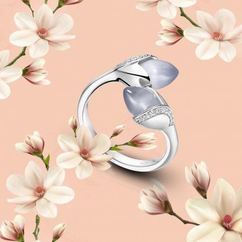Fei Liu Magnolia Collection Grey Heidi Kjeldsen Jewellers R1689 Branch