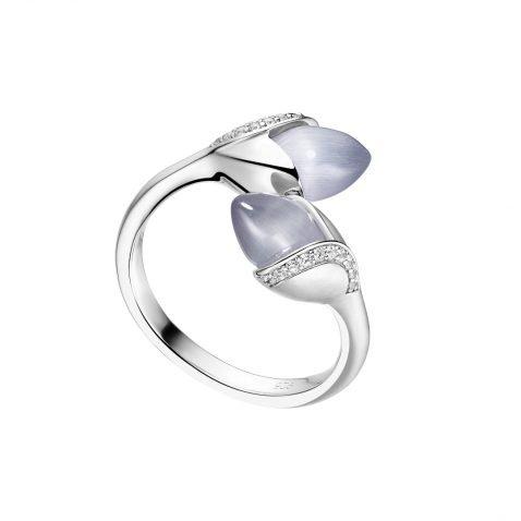 Fei Liu Magnolia Collection Grey Heidi Kjeldsen Jewellers R1689 Side