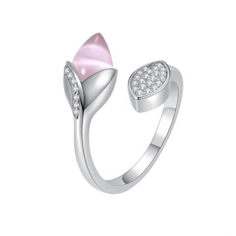 Fei Liu Magnolia Collection Pink with Leaf Heidi Kjeldsen Jewellers R1688 Side