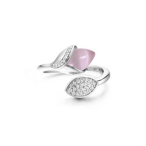 Fei Liu Magnolia Collection Pink with Leaf Heidi Kjeldsen Jewellers R1688 Top