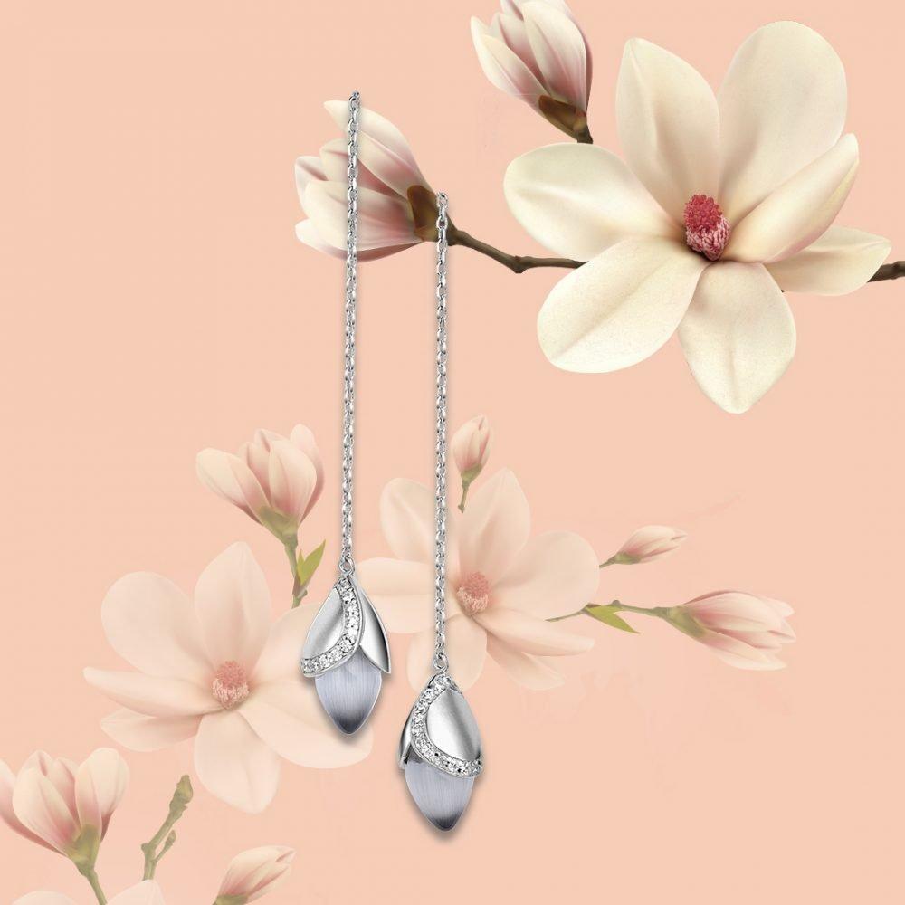 Fei Liu Magnolia Collection Threader Earrings Heidi Kjeldsen Jewellers ER2585 Branch