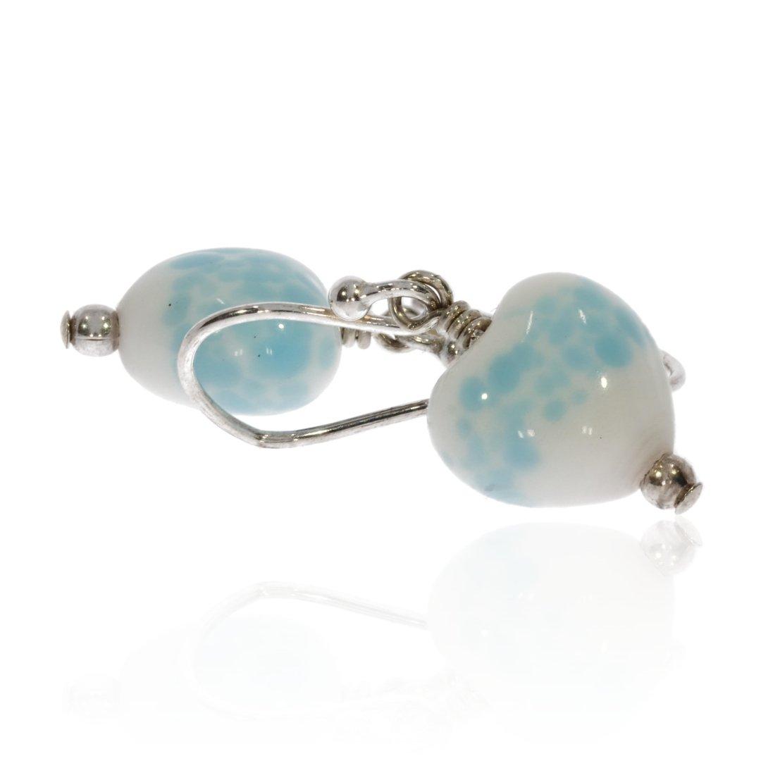 Glass Speckled Heart Earrings By Heidi Kjeldsen Jewellery ER2479 Side